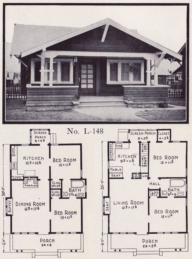 Delightful Design 1920 S Craftsman Bungalow House Plans 1922 Stillwell Plan No L 148 Craftsman Bungalow House Plans Bungalow House Plans House Plans