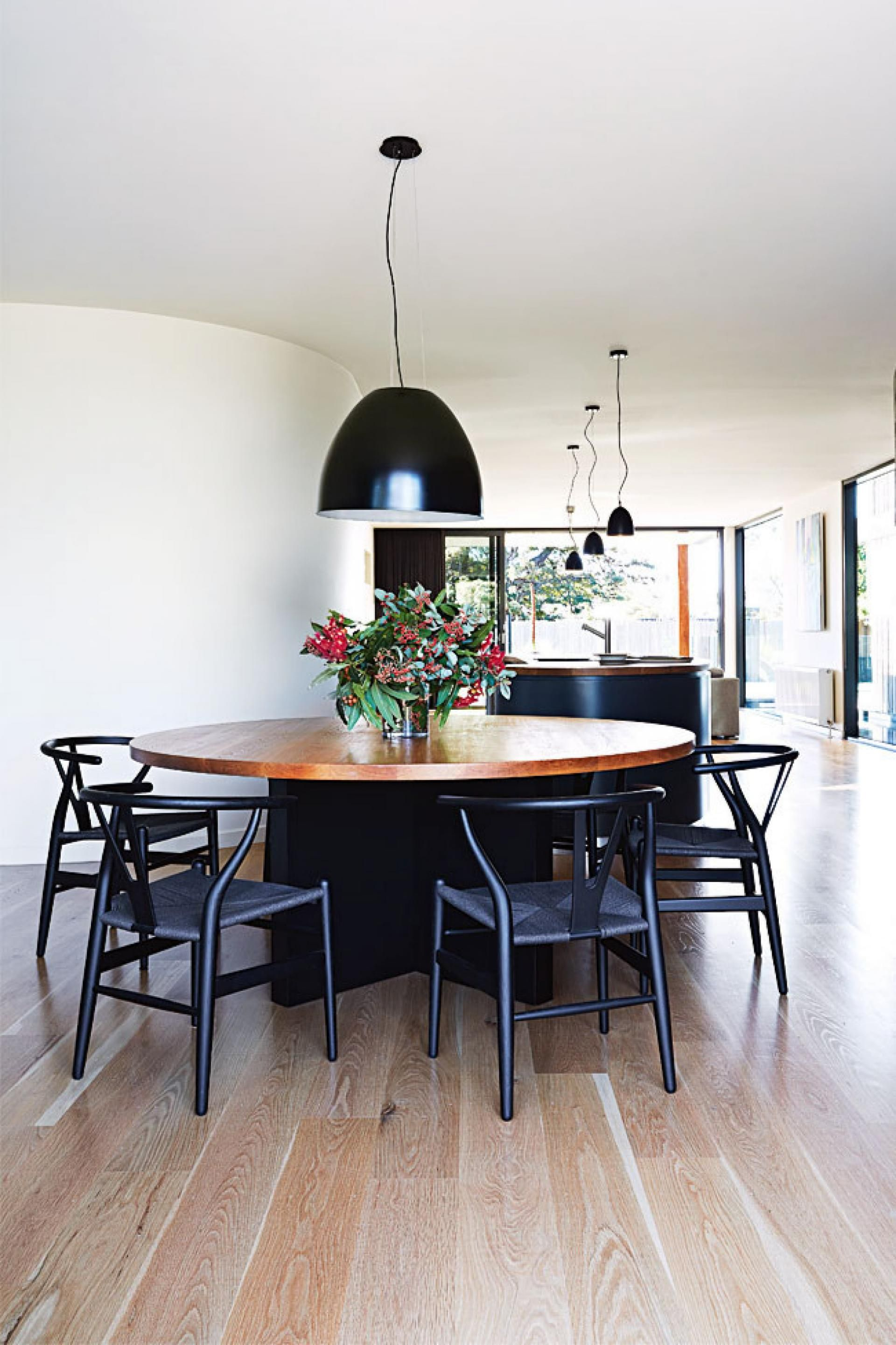 dining room black chairs dec13 Contemporary Beach