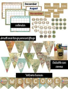 Travel Classroom Decor Bundle (Editable) is part of Ela Classroom decor - Looking for a travel theme decor for your middle school or secondary classroom  This bundle includes over 280 pages of EDITABLE travel and map themed resources  Download the preview for a sample look of each item included  Note There are two files called Desktop ini within the ZIP file