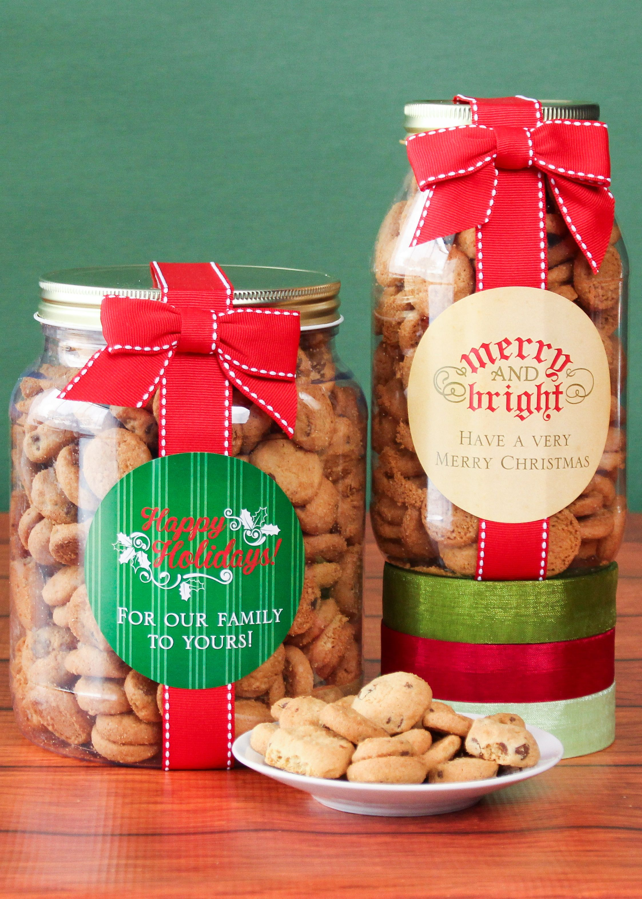 Personalized Holiday Cookie Gift Jars | Christmas | Pinterest