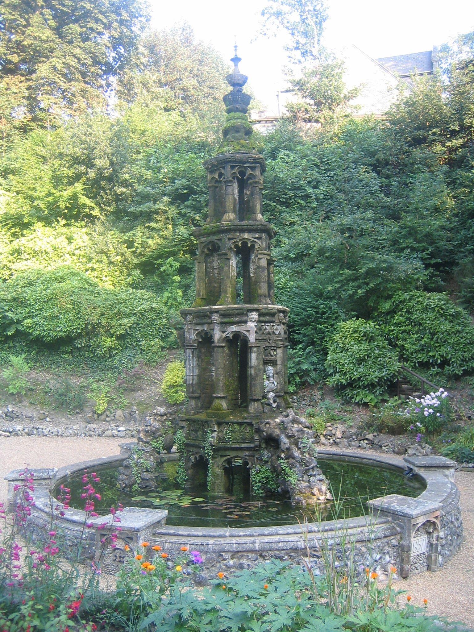 Pretty Sweet Gothic Fountain Gothic Garden Water Features In The Garden Garden Fountains
