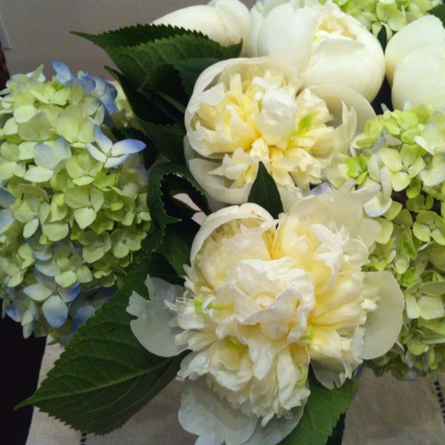 Whole Foods Wedding Bouquet: A Flower Arrangement I Made Today With Blue Green
