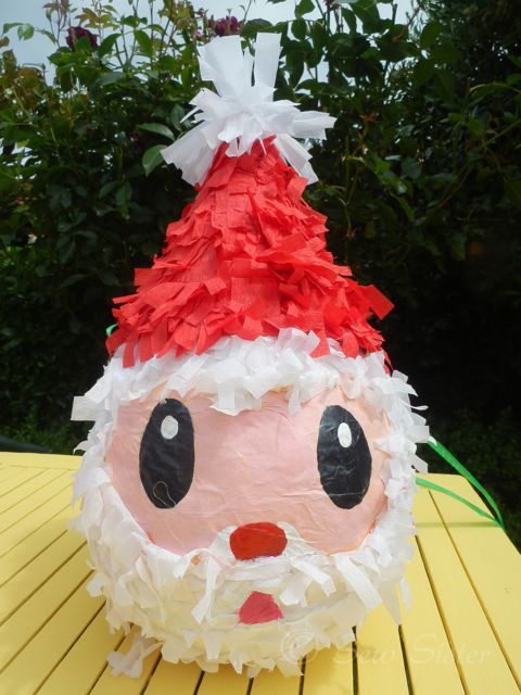 Christmas Pinata.Our Effort For Making A Father Christmas Pinata I Gave All