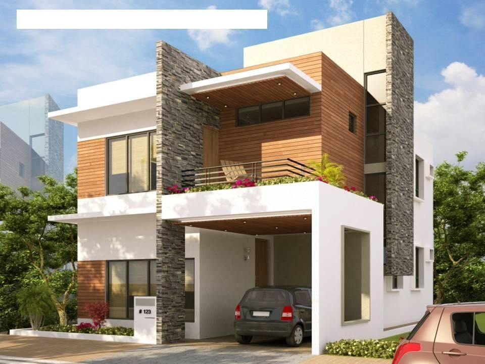Stunning sloping site house design with inspiring front elevation designs for duplex houses in india also image result modern bedroom build my new home rh pinterest