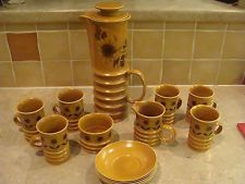 Carlton ware   RETRO 1960s style Coffee set  SUNFLOWER Design
