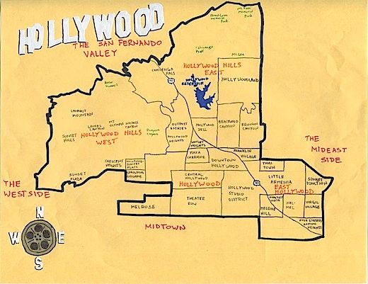California Fool S Gold A Hollywood Primer Los Angeles Map California Map California History