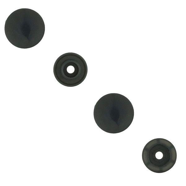 KAM Snaps Round Size 20 Glossy Dark Gray (B4)