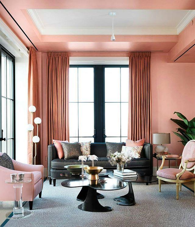 صالة استقبال مودرن انيقة حبيت اللون غريب ومميز Luxe Living Room Home Decor Decor