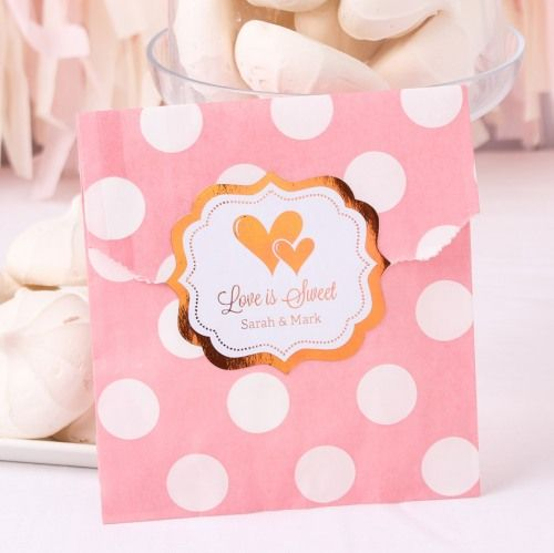 Personalized Metallic Foil Pattern Goodie Bags