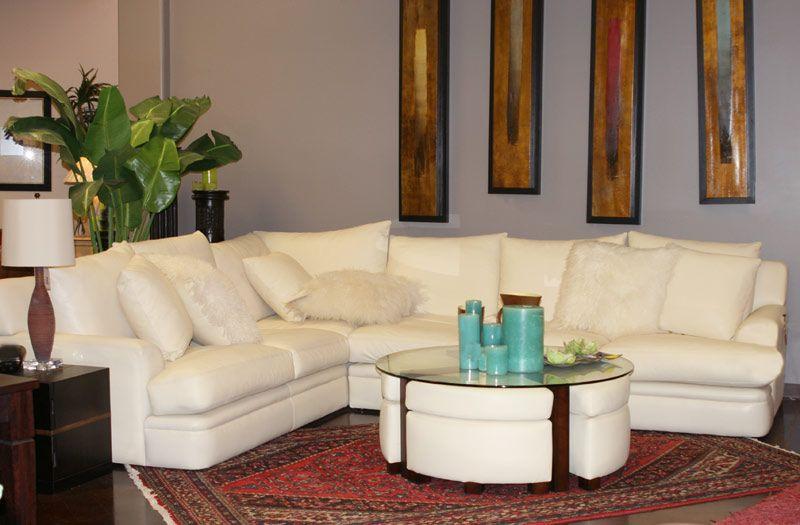 Merveilleux White Leather Furniture That Still Looks A Little Coastal/Hampton Style