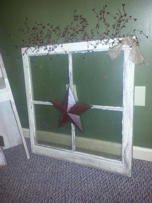 New piece prim window frame w glass