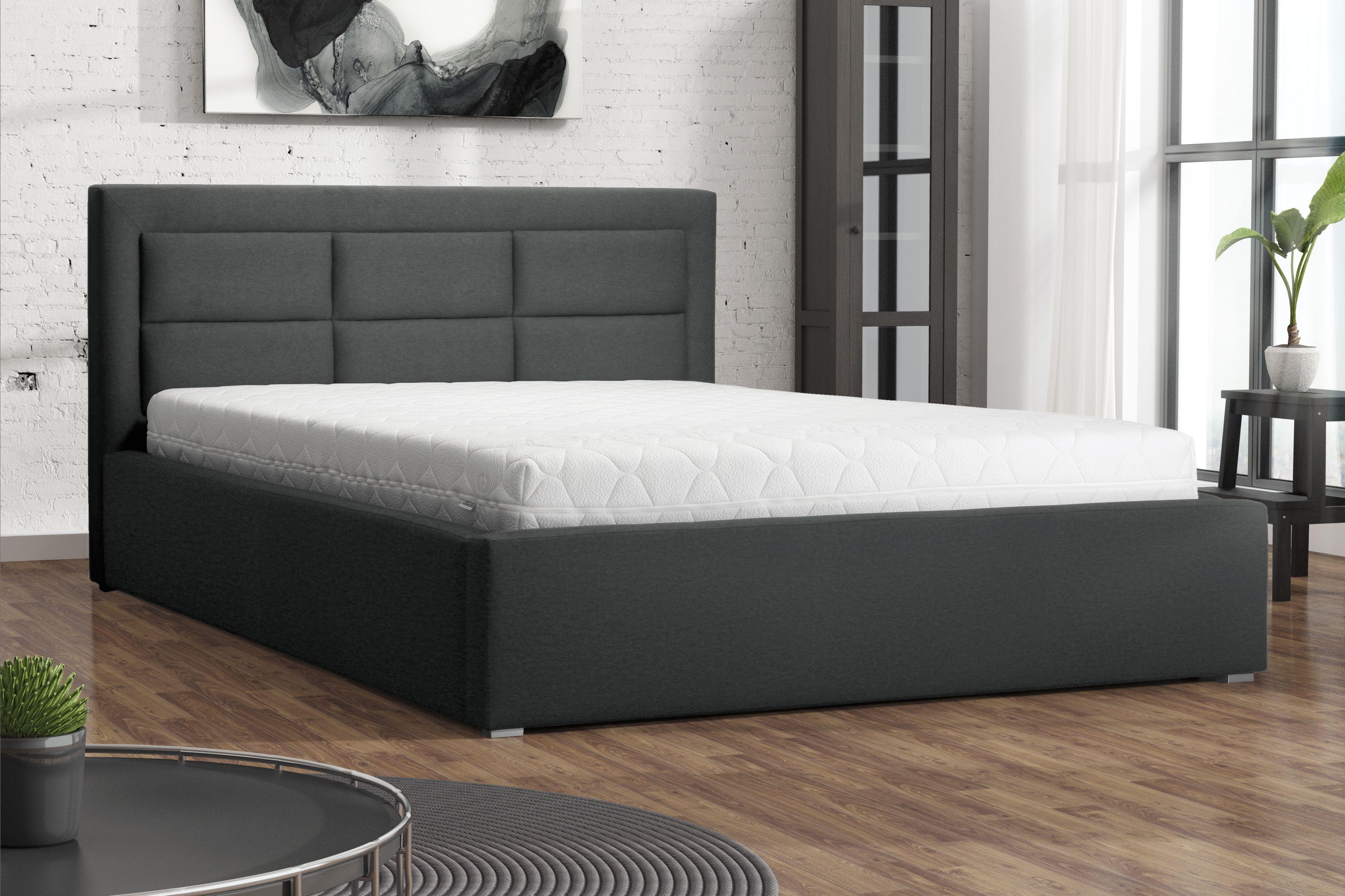 Aranżacja Sypialni Z Pięknie Przeszywanym łóżkiem Do Sypialni