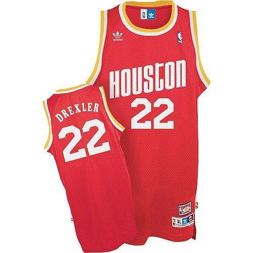 a9215a131 ... shop adidas nba houston rockets 22 clyde drexler throwback soul swingman  red jersey 02bce 3b163