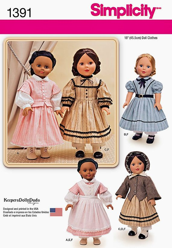 18 inch Historical Doll Dresses Pattern, 18\