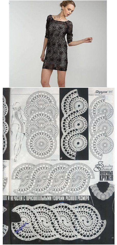Patron Vestido Fiesta - Patrones Crochet | Ganchillo | Croché ...