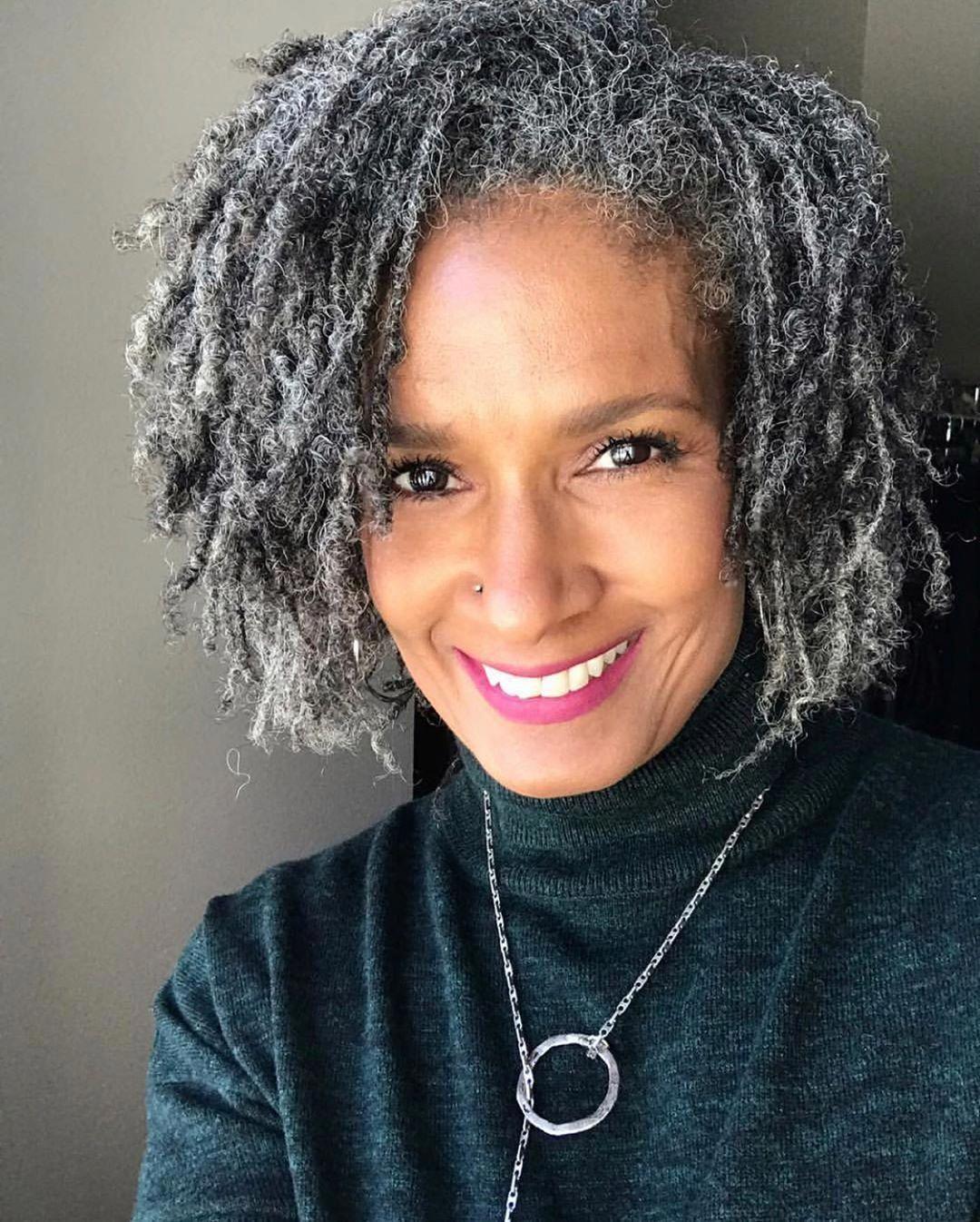 Beautiful Black Women Slaying Gracefully In Gray Hair Natural Hair Styles Grey Hair Care Beautiful Gray Hair