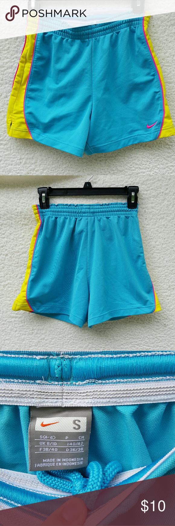 Retro neon Nike shorts Retro bright neon blue, hot pink