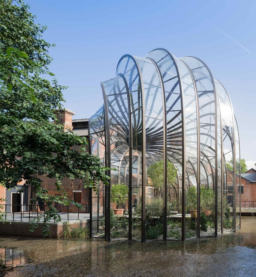 High trees garden centre  Bombay Sapphireus new distillery by Thomas Heatherwick is unveiled