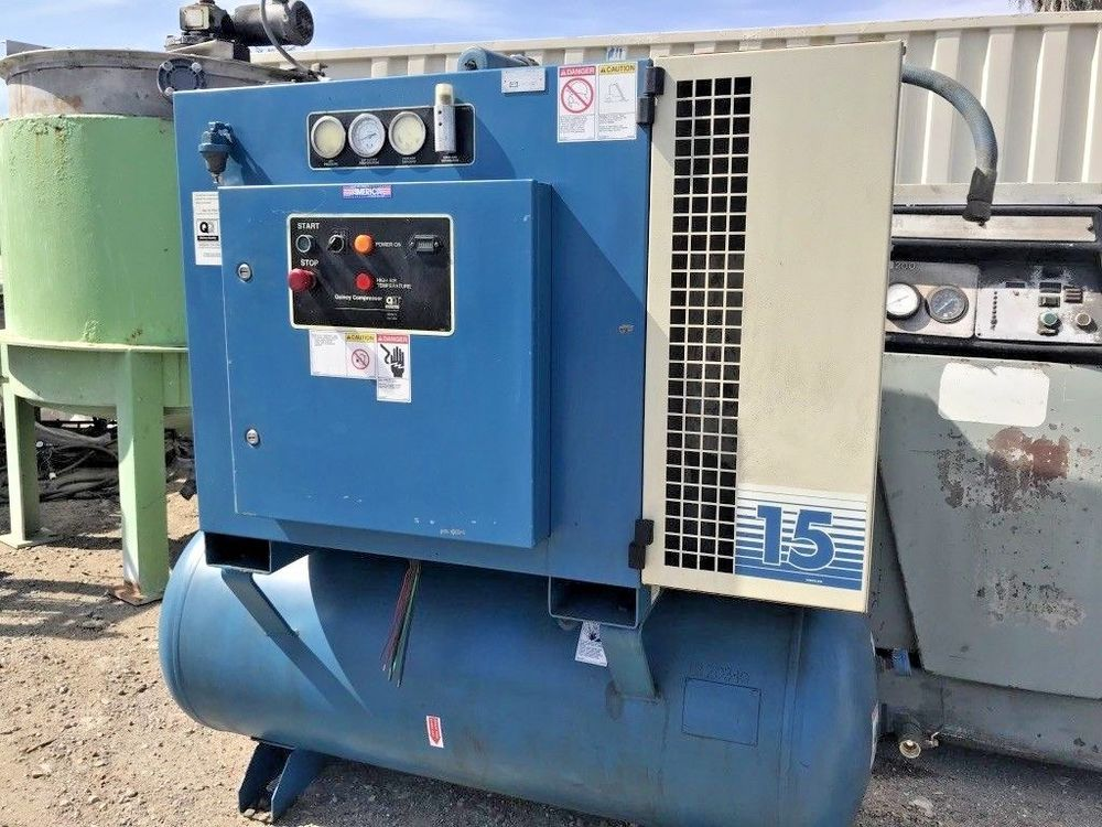QUINCY 15 HP ROTARY AIR COMPRESSOR MODEL QMT15ACA12SG WITH