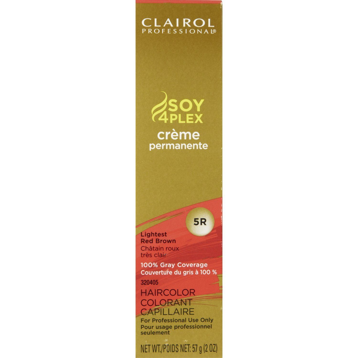Clairol professional permanent r lightest red brown you can get