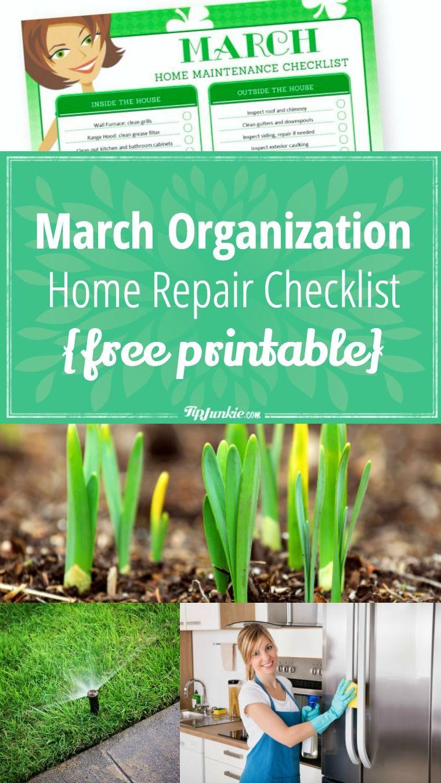 Photo of Checkliste für Organisation und Reparatur im März [printable]