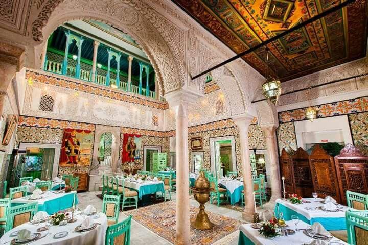 مطعم السرايا تونس باب منارة Tunisia Restaurant Patio Restaurant