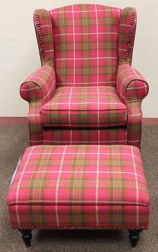 New Next Sherlock Gosford Armchair Amp Footstool Pink