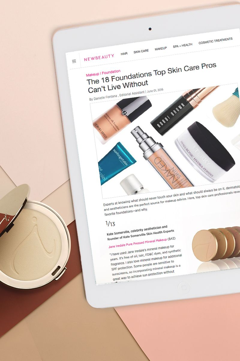 "If you avoid applying sunscreen to your face because it clogs your pores, NewBeauty Magazine suggests using PurePressed Base Mineral Foundation with SPF as ""a great way to achieve sun protection without breakouts."""