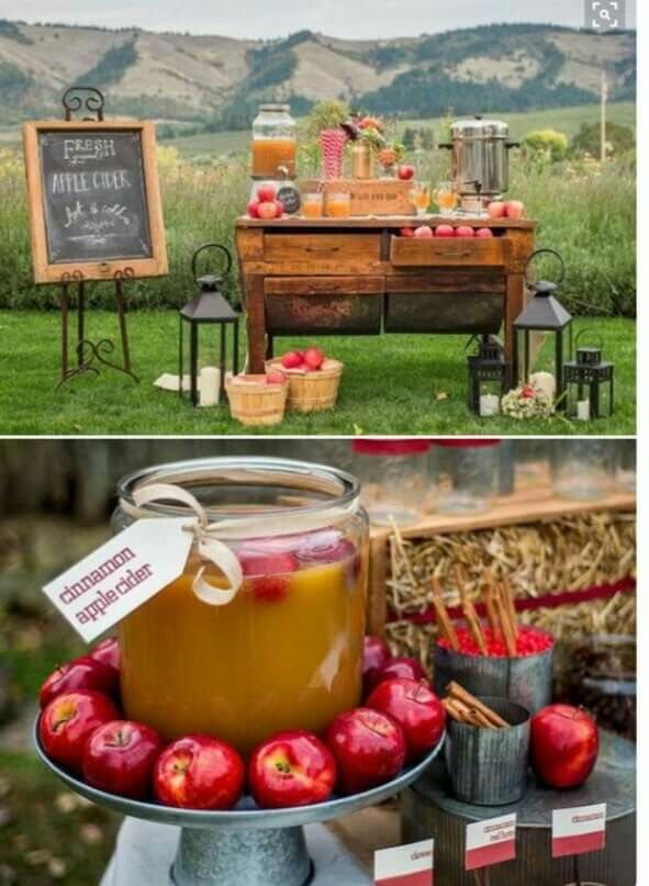 Fall Dinner Party Menu Suggestions Part - 39: Apple Cider Bar For Fall Wedding