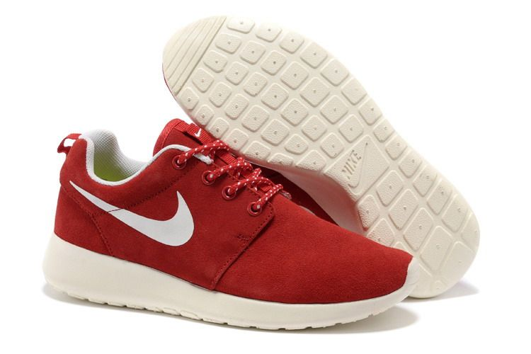 Nike Free Roshe Run Women Fire Red White