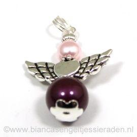 Hangertje Beschermengeltje Crystal Blackberry Rosaline http://www.biancasengeltjessieraden.nl/c-2017591/beschermengeltjes-hangertjes/