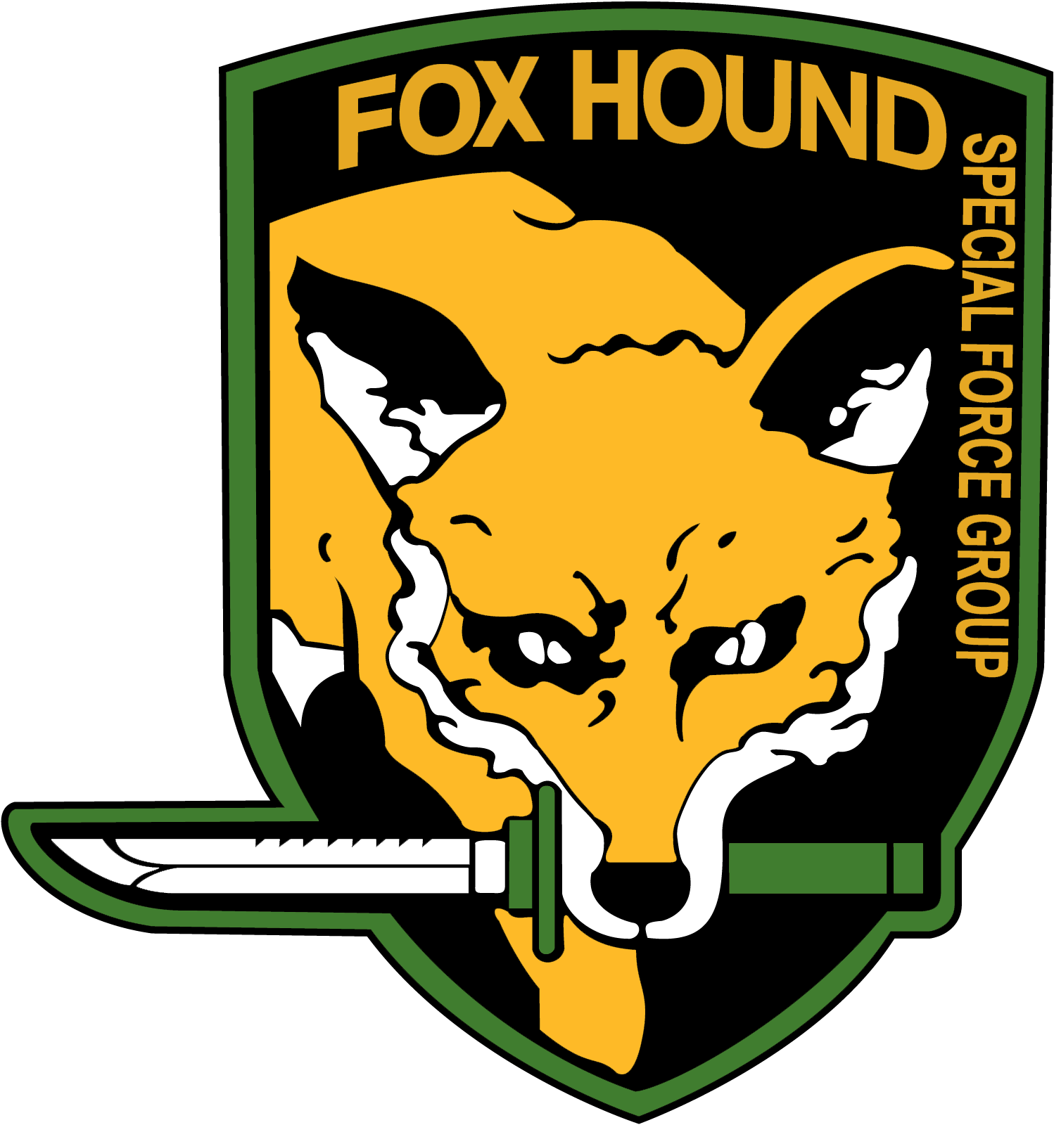 Foxhound Emblem From The Game Metal Gear Solid Metal Gear The Fox And The Hound Metal Gear Series