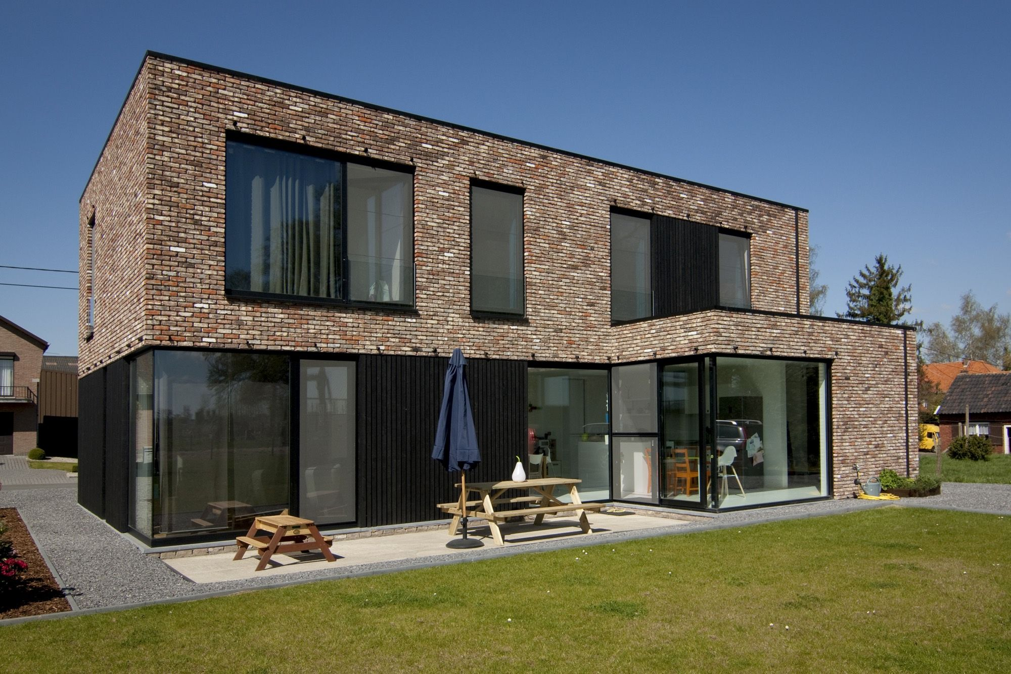Block office architecten hedendaagse woning te alken strakke