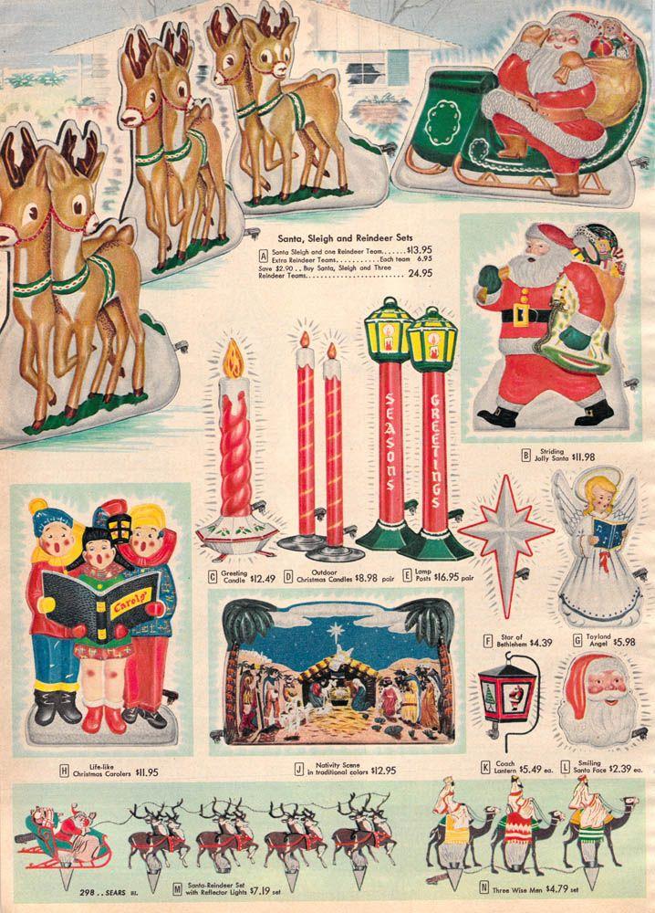 1956 Sears Christmas - Exterior Illumination - 1956 Sears Christmas - Exterior Illumination Vintage Christmas