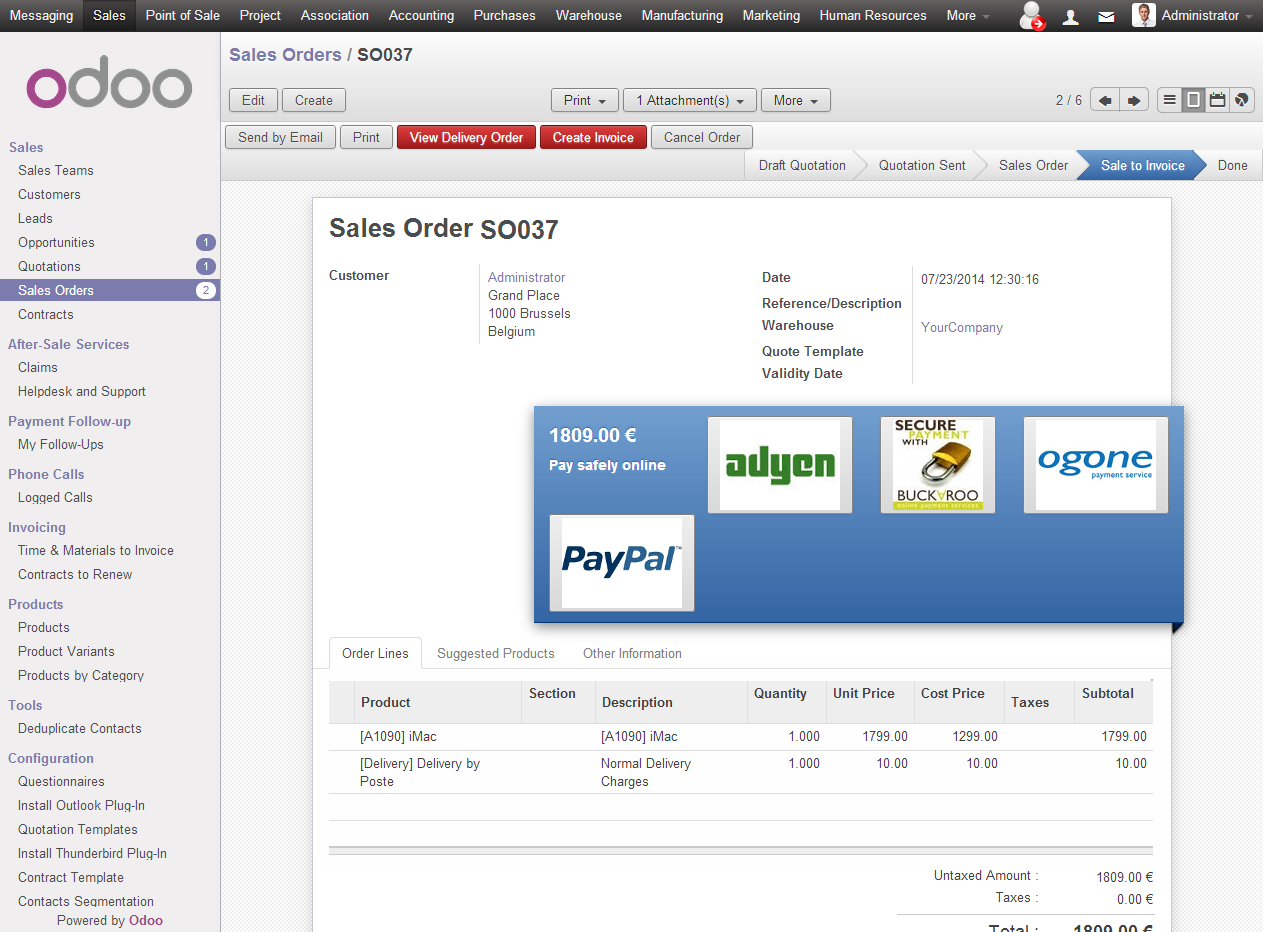 Now you can easily manage your shopping cart with Odoo