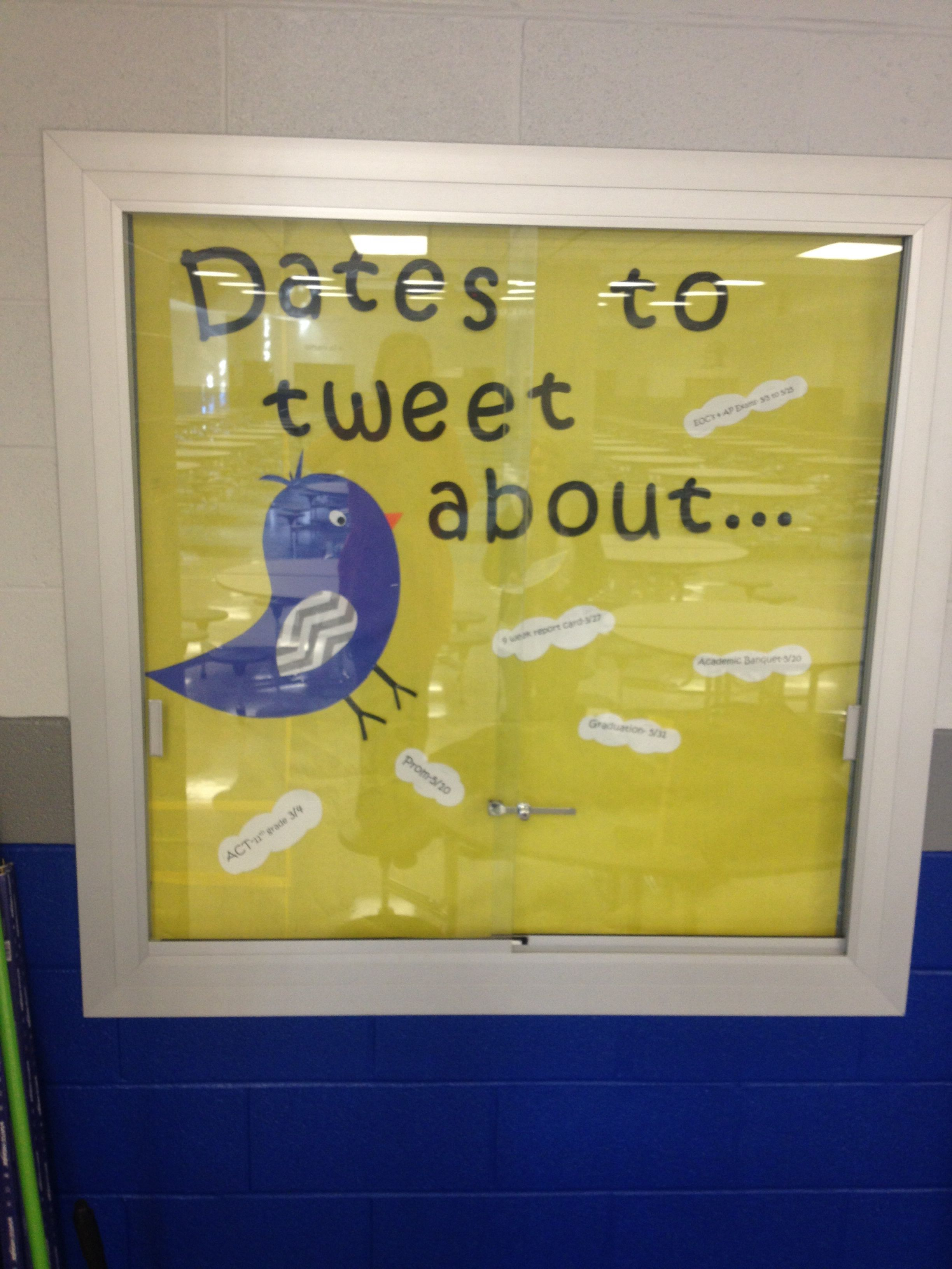 Dates To Tweet About Bulletin Board Important Upcoming