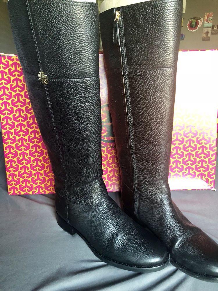 f1f74477baa Tory Burch Jolie Riding Boot Wide Calf Black Size 8.5
