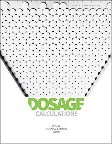 Dosage Calculations Paperback \u2013 Mar 22 2017 Test Bank Pickar Swart - software testing spreadsheet template
