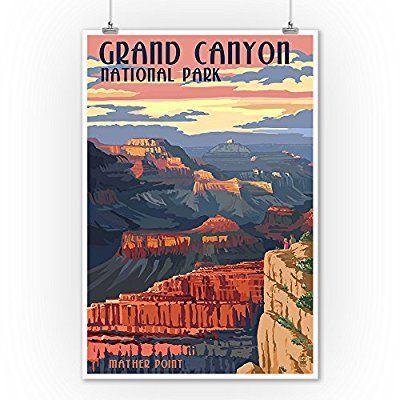 Grand Canyon National Park - Mather Point (9x12 Art Print, Wall Decor Travel Poster) $10-14-20