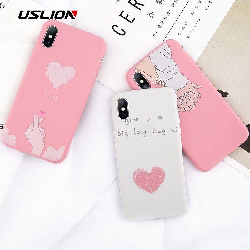 e82e08dfec USLION Hand Love Couple Phone Case For iPhone 6 8 7 Plus Korean Girl Flower  Cases For iPhone X 8 7 6 6S Plus... original Price($)??1.65sale  Price($)??1.32