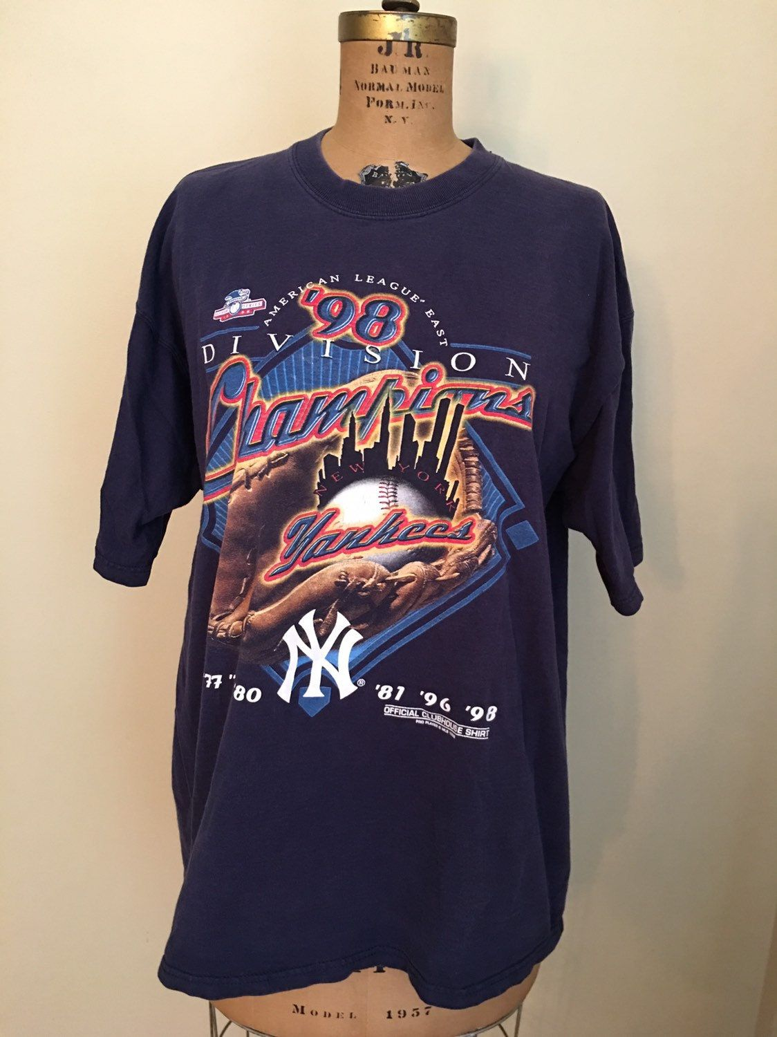 Vintage New York Yankees T Shirt 1998 American League East Division Championship T Shirt Size Xlarge Yankees T Shirt New York Yankees Logo Vintage New York