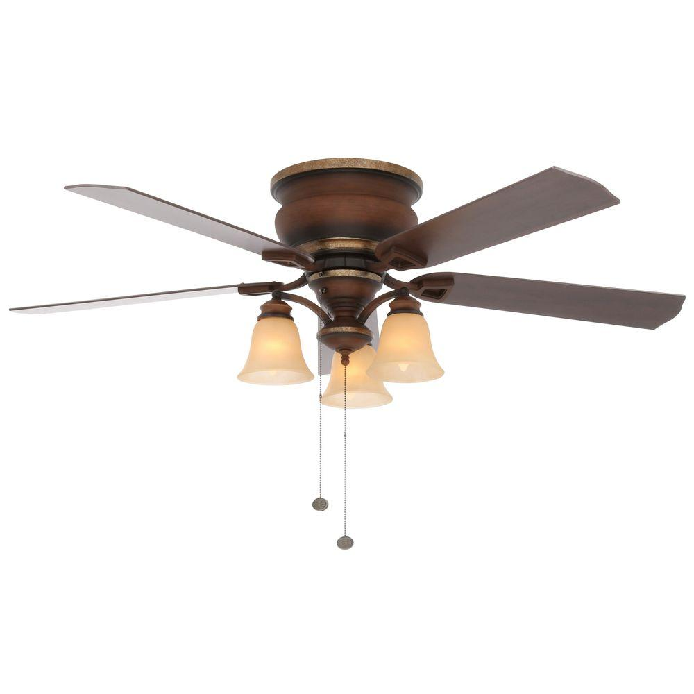 Hampton Bay Eastvale 52 In Indoor Berre Walnut Ceiling Fan With Light Kit Ventilator Mit Licht