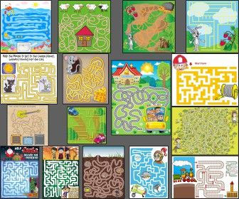 Mazes for kids and children's vector