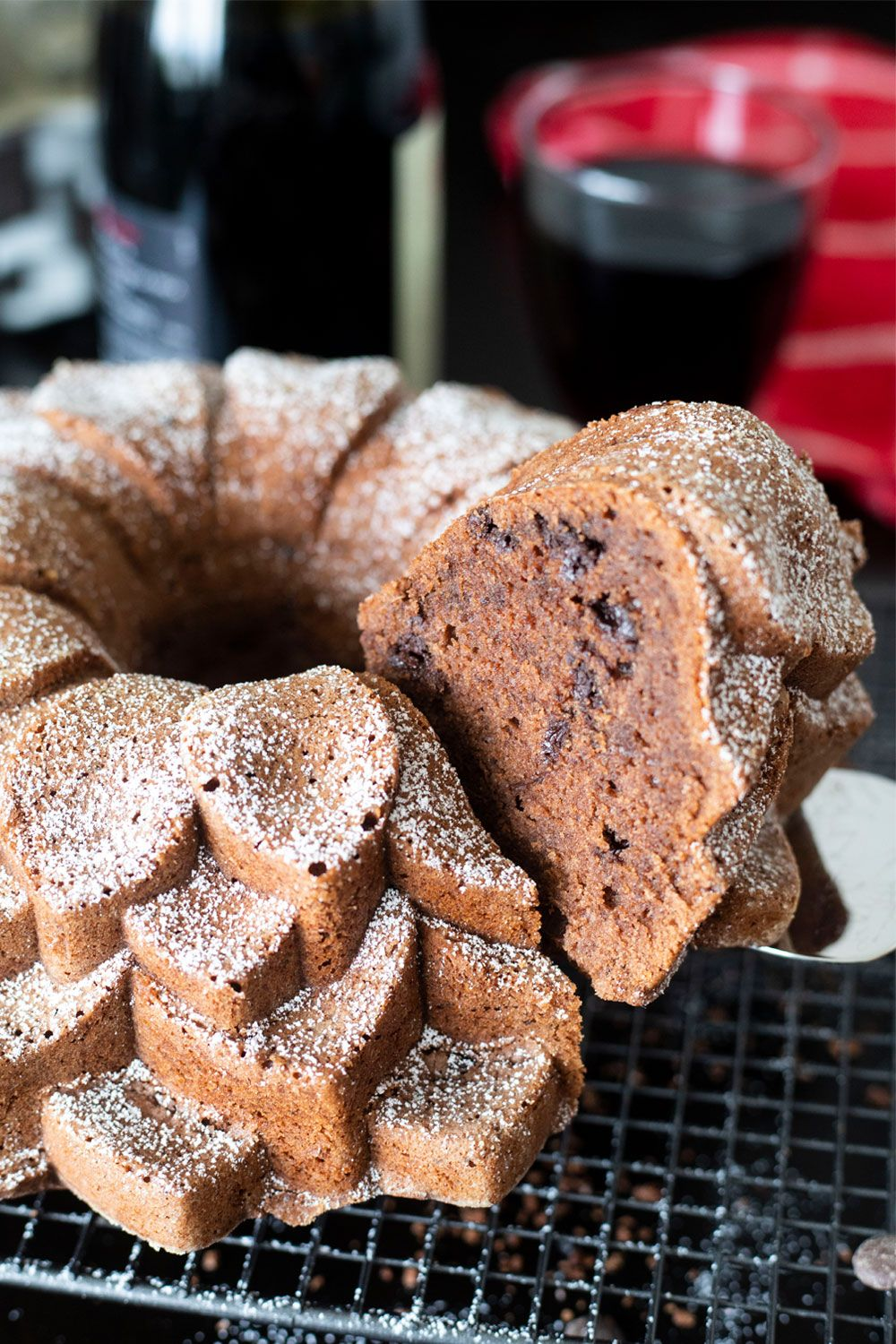 Not just your ordinary chocolate cake. German Red Wine ...