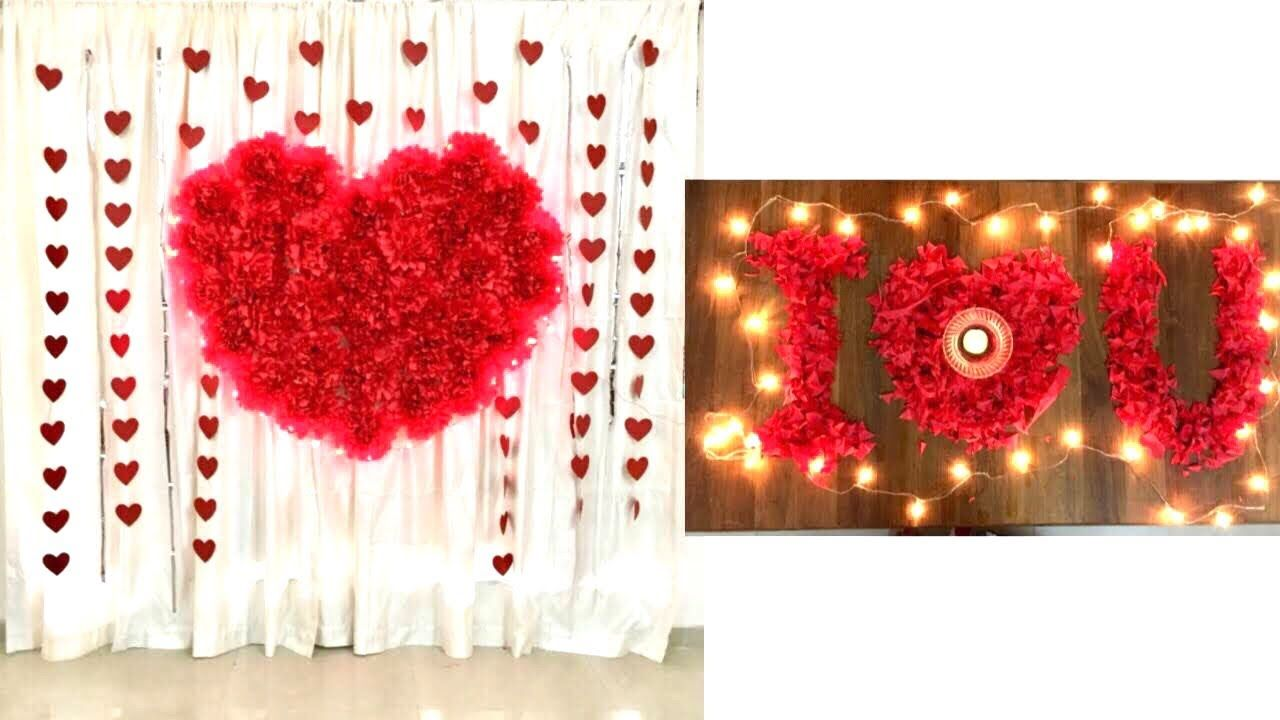 Wedding Anniversary Decoration Ideas At Home Romantic Room Decor Idea Wedding Anniversary Decorations Anniversary Decorations Diy Valentines Decorations