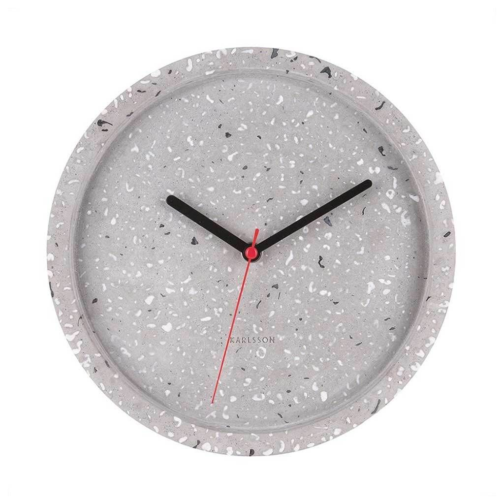 Karlsson Wandklok Karlsson Wall Clock Tom Terrazzo Grey In 2019 Ideas For The