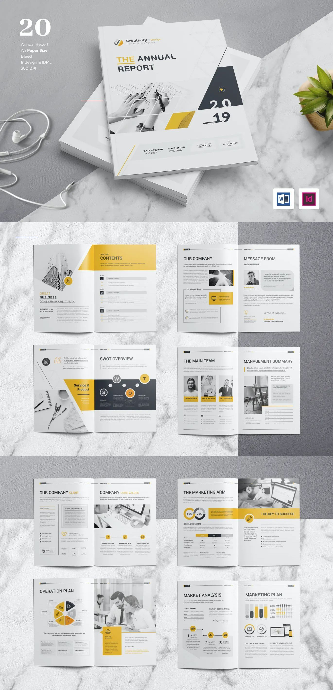 Annual Report Template Indesign Indd Annualreports Download Annual Report Graphic Templates By Cre Annual Report Design Annual Report Layout Annual Report
