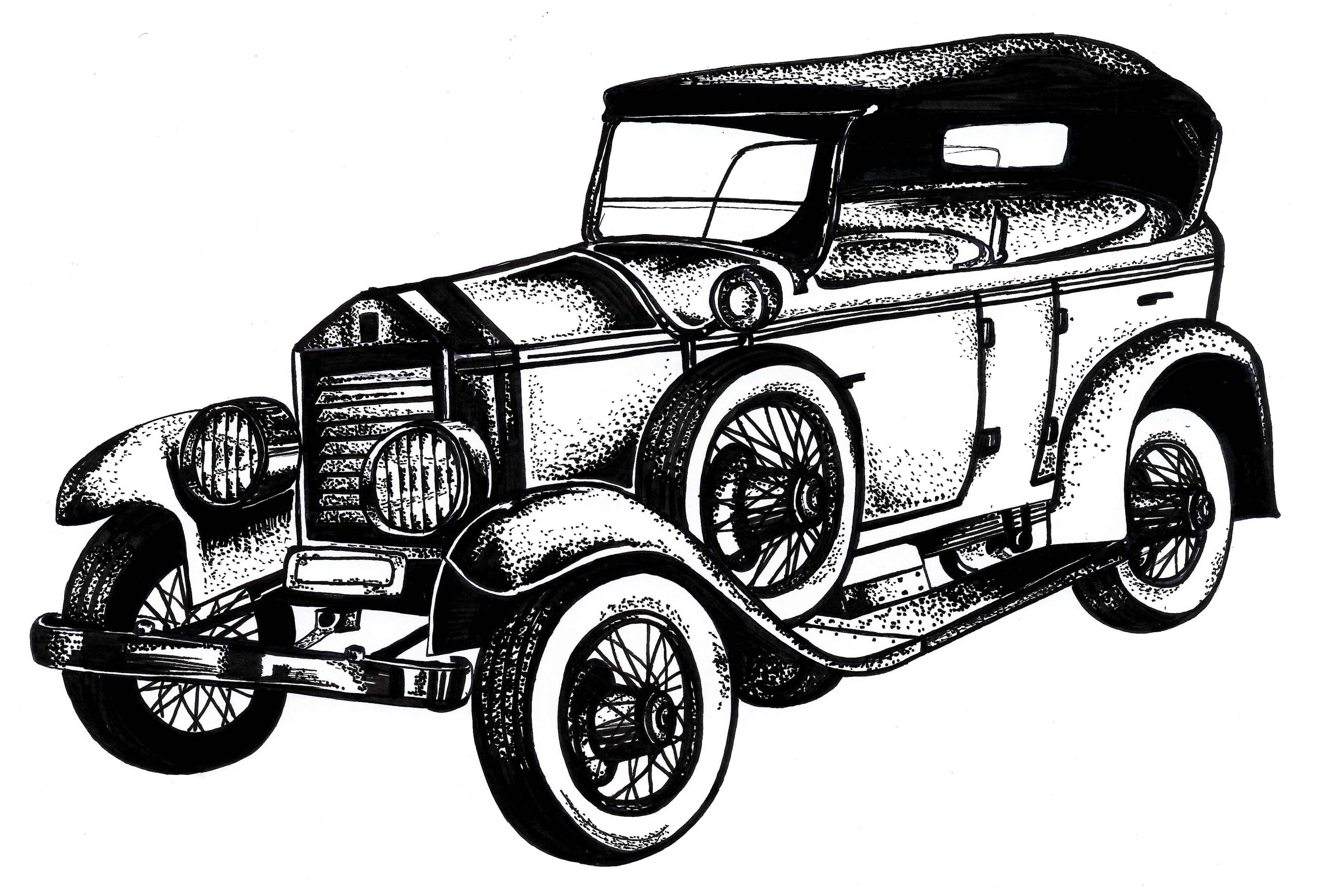 Classic Car Drawings Classic Car Clipart Oldies Pencil And In
