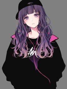 Photo of Anime Pictures (read description) – 8. Purple Haired Girls (1)