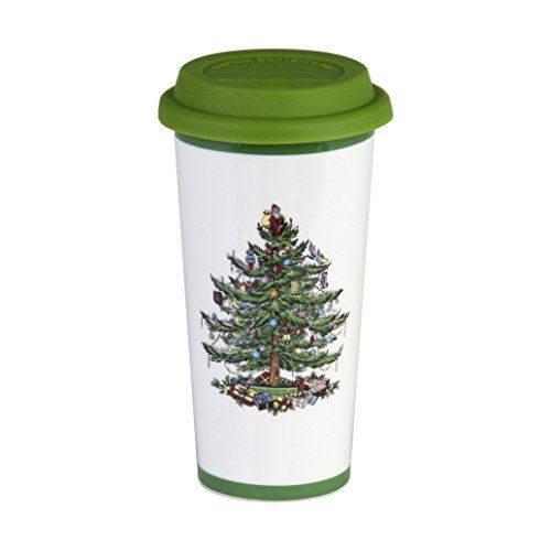 Spode Christmas Tree Travel Mug with Silicone Lid -- You can find